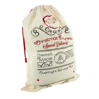 Christmas Express Special Delivery Santa Sack, Ivory, 27-Inch x 19-Inch