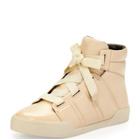 Morgan Leather High-Top Sneaker, Porcelain - 3.1 Phillip Lim