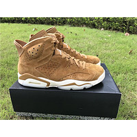 "Air Jordan 6 ""Golden Harvest"" camel Basketball Shoes 40-47"