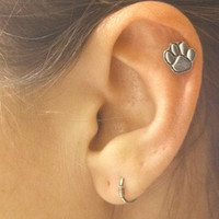 Animal Paw Print Cartilage Earring Helix Piercing