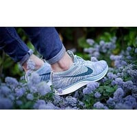 Nike Flyknit Racer Rainbow Popular Classic Women Men Casual Running Sport Shoes Sneakers Purple I-CSXY