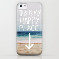 My Happy Place (Beach) iPhone & iPod Case by Leah Flores