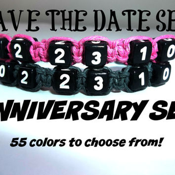Personalized Couples Jewelry, Couple Bracelets, Couples Gift Set, Matching Couples Bracelets, Anniversary Date, Cute Boyfriend Gift, Custom