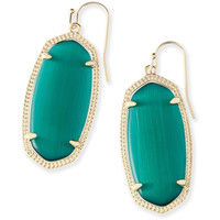 Kendra Scott: Elle Earrings In Emerald Cat's Eye