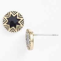 Women's House of Harlow 1960 Sunburst Engraved Stud Earrings - Black/ Gold
