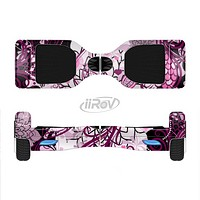 The White and Pink Birds with Floral Pattern Full-Body Skin Set for the Smart Drifting SuperCharged iiRov HoverBoard