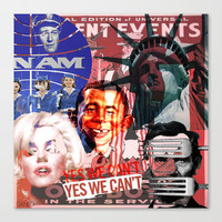 American Icon (Collage) Stretched Canvas by Ganech joe