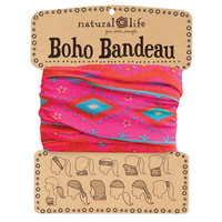 Pink & Turquoise Zigzag Boho Bandeau by Natural Life