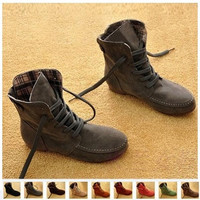 2014 Fashion hot sale good quality  winter Autumn Women Ankle Motorcycle Boots Summer Winter Martin Shoes Woman Brand Leather Flats Botas Femininas Boots CSXZ1031 on sale = 1945863044