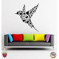 Wall Stickers Vinyl Decal Bird Abstract Modern Unusual Decor For Bedroom Unique Gift (z1783)