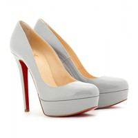 mytheresa.com -  Christian Louboutin - PUMPS BIANCA 140 IN VERNICE - Luxury Fashion for Women / Designer clothing, shoes, bags