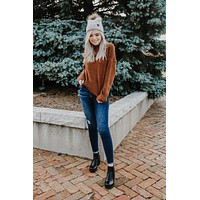 Fireside Memories Sweater - Rust