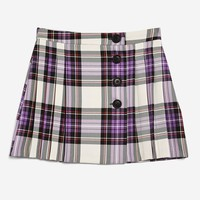 Tartan Button Kilt Skirt - Skirts - Clothing