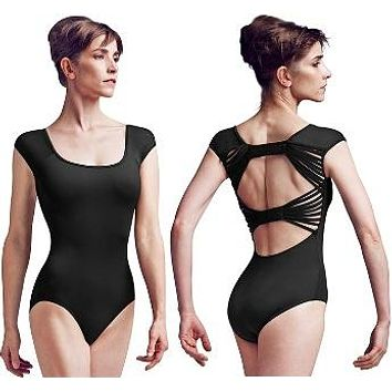 Mirella Adult Back Bow Cap Sleeve Leotard
