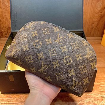 LV Louis Vuitton New Canvas Shell Bag Clutch Cosmetic Bag