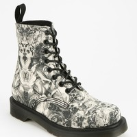 Dr. Martens Skull & Roses 8-Eye Boot - Urban Outfitters