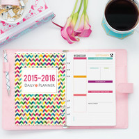 Daily Planner Printable, Day Docket Half Sheet, DATED 2015 2016, Monthly Calendar, Printable Instant Download, A5 Inserts, Erin Condren