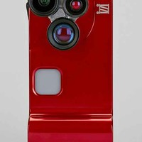 4-In-1 Lens Solution iPhone 5/5s Camera Case- Red One