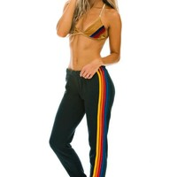 WOMEN'S 5 STRIPE SWEATPANTS - CHARCOAL