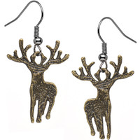 Handcrafted Wild at Heart Majestic Deer Dangle Earrings | Body Candy Body Jewelry