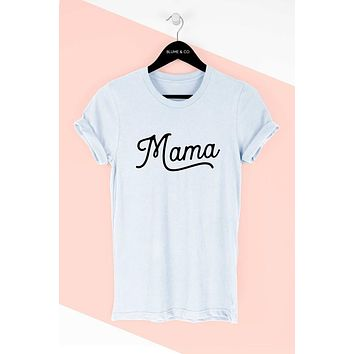 Don't Mess With Mama Graphic Tee - Heather Grey