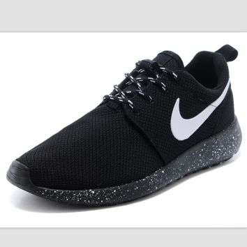 """""""NIKE"""" roshe Trending Fashion Casual Sports A Simple yet Powerful Style Nike Shoes Black (black starry sky soles)"""