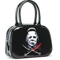 Halloween Women's Crossed Knives Girls Handbag Black
