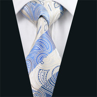 Men Silk Tie Multi-Color Paisley Neck Tie 100% Silk Jacquard Ties For Men Business Wedding Party