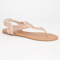 Celebrity Nyc Bling Womens Sandals Tan  In Sizes