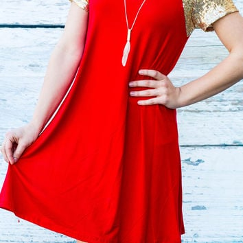 BE MINE TUNIC IN RED