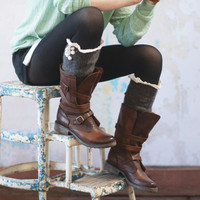 BOOT SOCKS  Lacey Over the Knee Knitted Boot Cuffs Crochet Trim Button Up Boots Socks
