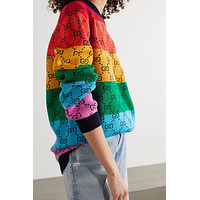 GG Multicolor Knitted Double G Sweater