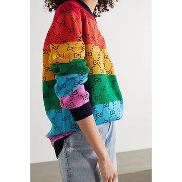 GUCCI GG Multicolor Knitted Double G Sweater