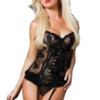 Seven Til Midnight Women's Paisley Please Bustier And Thong