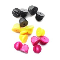 Extra Rubber Pin Backs - Assorted (Set of 15)