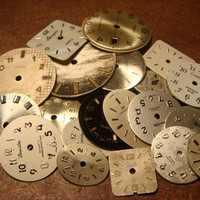 Steampunk Supplies Smal - Large Vintage Antique Watch Faces Parts for Mixed Media - Jewelry, Altered Art, Assemlage, Scrapbooking (1588)
