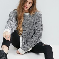 ASOS Oversized Sweater In Twisted Yarn at asos.com