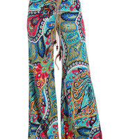 Mix Print High Waisted Palazzo Pants