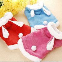 Cute Pet Dog Cat Bunny Clothes Autumn Winter Spring Puppy Costumes Hoodie Apparel