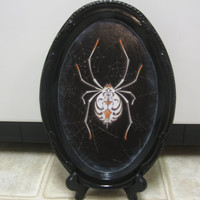 Halloween Decor-Halloween Shelf Sitter-Halloween Decorations-Halloween Spider Tray-Shelf Sitter-Spooky Decor-Goth Decor-Halloween Wall Decor