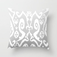 ikat in Dusty Pony Throw Pillow by Miranda J. Friedman | Society6