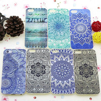 1 Piece Mandala Porcelain Flower Style Printed soft tpu Skin Phone Cases for iPhone 5 5S Back Case for iPhone 5