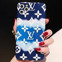 LV Louis Vuitton iPhone 12 Fashion Gradient Color Mobile Phone Case iPhone XS Max Leather Case Phone Case