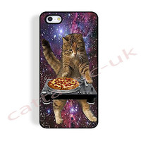 case,cover fits iPhone, iPod models>DJ cat,kitty,pepperoni pizza,turntable,funny