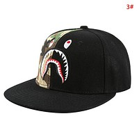 Bape Aape New fashion embroidery shark eye camouflage couple cap hat 3#