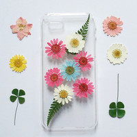 Pressed Flower iPhone 5 Case clear, iPhone 5s Case, iPhone 5 Case, Clear iPhone 5c Case, iPhone 5s Case, iphone 5c, daisy iphone case