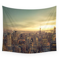 Society6 New York Skyline Cityscape Wall Tapestry