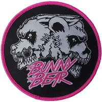 Bunny The Bear Men's Mutant Embroidered Patch Black