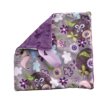 BB Emerald Lavender Fly Away Silver Soft Pacifier Binky Baby Blanket