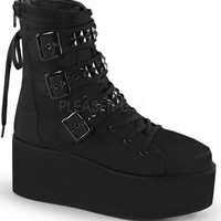 Demonia Black Platform Lace Up Boots